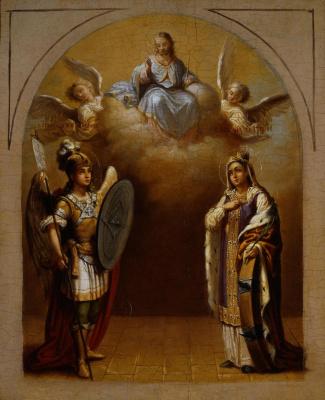 Vladimir Lukich Borovikovsky. The Archangel Michael and the Martyr Catherine