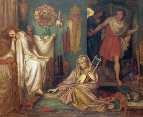 Dante Gabriel Rossetti. Returning Tibullus Delia