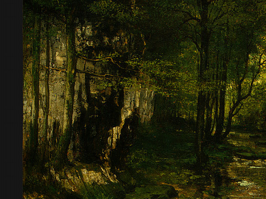 Gustave Courbet. Stream