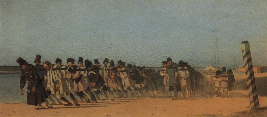 Vasily Vasilyevich Vereshchagin. The haulers. Unrealized sketch for the painting