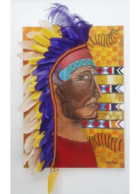 Александра Кнабенгоф. Вождь команчей  Comanche leader
