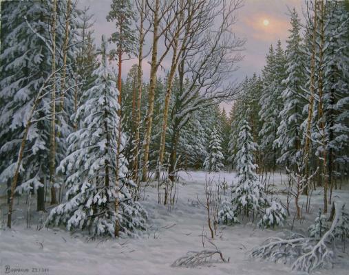 Alexander Vasilyevich Zoryukov. Smolovskaya winter