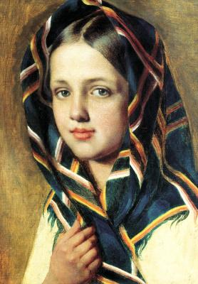 Alexey Gavrilovich Venetsianov. Girl in a scarf