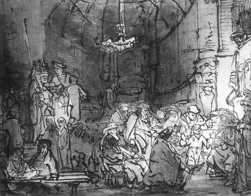 Karel Fabricius. Jesus among the doctors. Etude