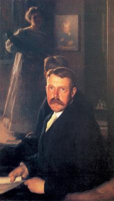 Мария Данфорт Страница. Портрет мужчины с усами