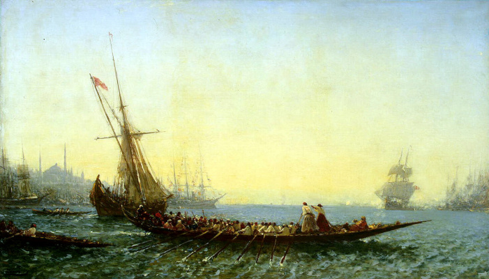 Феликс Франсуа Жорж Филибер Зим. Гавань в Константинополе