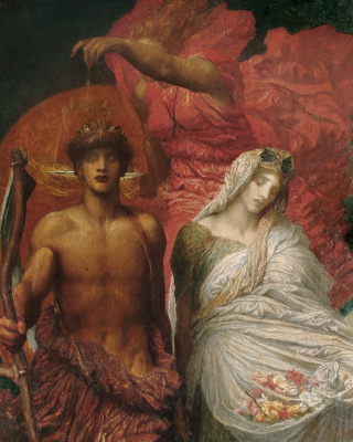 George Frederick Watts. Time, Death and Justice (fragment)
