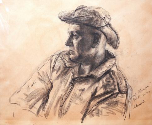 Alexey Kryukov. Portrait of the writer Zakhar Prilepin. 2017 g. Sauce paper size 50 X 60 cm pa