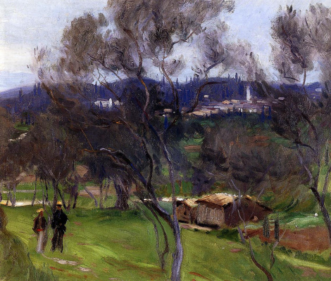 John Singer Sargent. Olive trees on Corfu