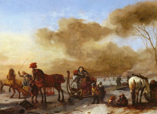 Филипс Воуверман. Зимний пейзаж