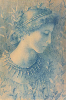 Jean Delville. Flora. Etude
