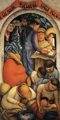 Diego Maria Rivera. Night of the poor