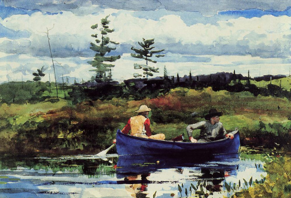 Winslow Homer. Blue boat