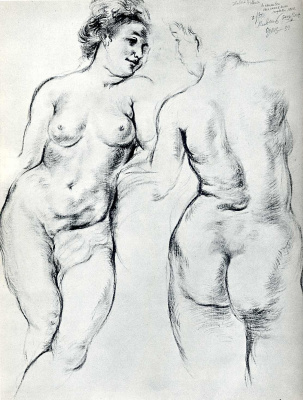 George Grosz. Nude