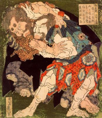 Katsushika Hokusai. Sumo Wrestlers