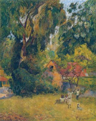 Paul Gauguin. Tree huts
