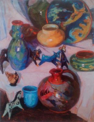 Galina Sevruk. Still life with ceramics