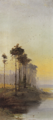 Alexey Savrasov. Landscape with pine trees