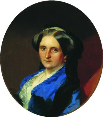 Иван Кузьмич Макаров. Портрет А.А. Олениной, в замужестве Андро де Ланжерон. 1851