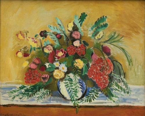 Анри Матисс. Букет цветов в белой вазе