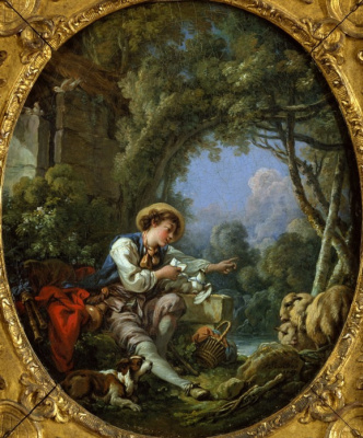 Francois Boucher. The departure of the messenger