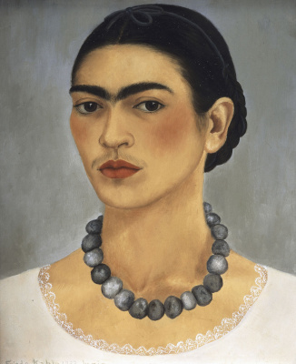 Frida Kahlo. Self portrait with necklace