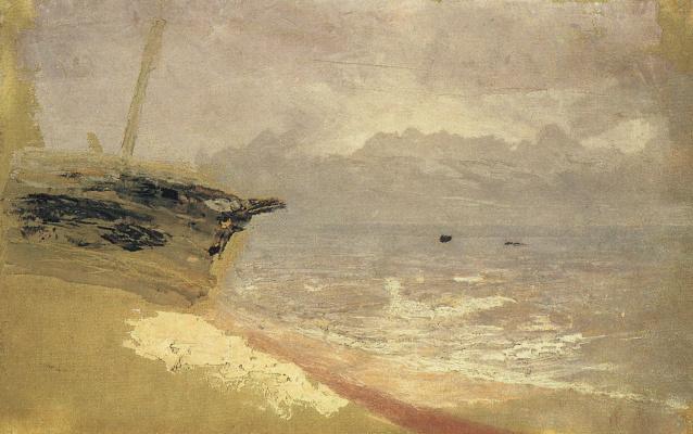 Arkhip Ivanovich Kuindzhi. Sea. Grey day. Mariupol