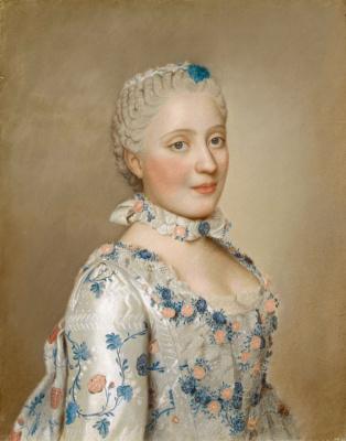 Жан-Этьен Лиотар. Портрет Марии Жозефы Саксонской, дофины Франции