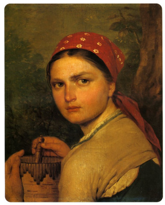 Alexey Gavrilovich Venetsianov. The girl with Burak