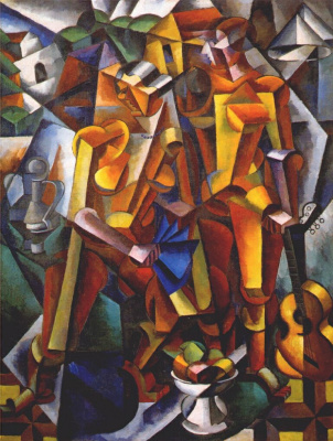 Love Sergeevna Popova. Composition with figures