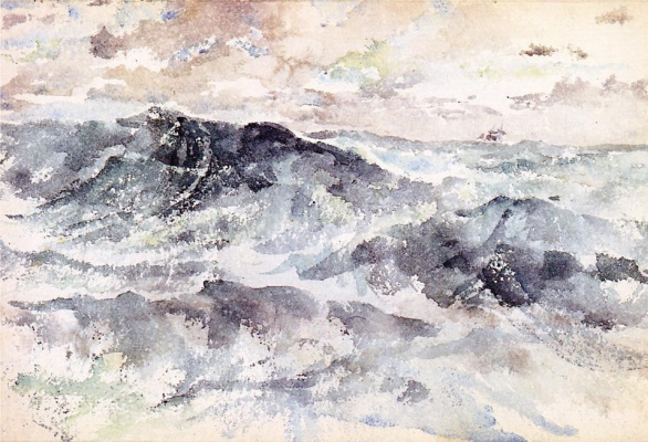 James Abbot McNeill Whistler. Arrangement in blue and silver - the Great sea