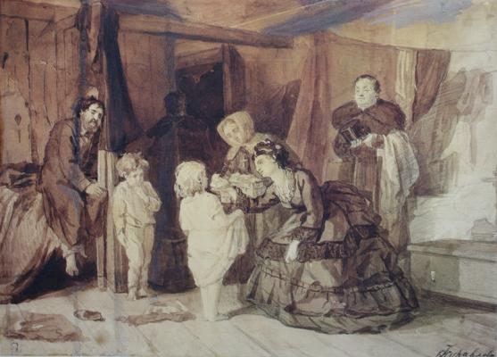 Firs Sergeevich Zhuravlev. Lady philanthropist. State Russian Museum