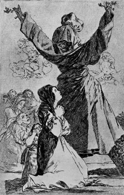 """Francisco Goya. A series of """"Caprichos"""", page 52: What not to do tailor!"""