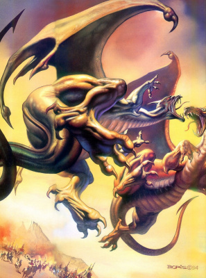 Boris Vallejo (Valeggio). Fight the dragon