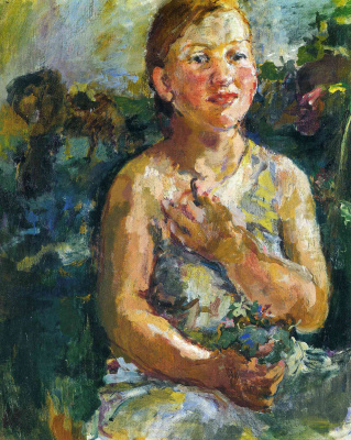 Oskar Kokoschka. Girl with flowers
