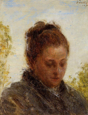Henri Fantin-Latour. Portrait of a young girl
