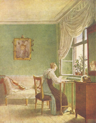 Georg Friedrich Kersting. Embroiderer in the window