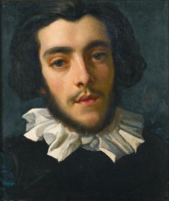 Frederic Leighton. Portrait of Charles Edward Perugini