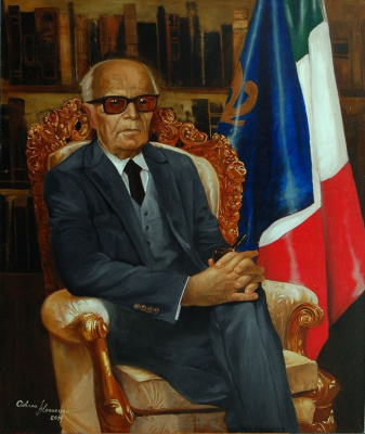 "Alexander Giza-Ciobanu. The Portrait Of ""Alessandro Pertini"""