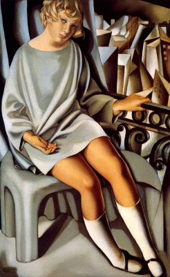 Tamara Lempicka. Kizette on the balcony