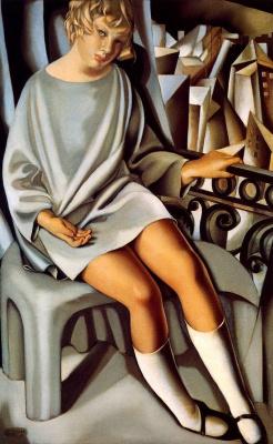 Tamara Lempicka. Kizette on the balcony