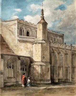 Джон Констебл. Церковь Восточного Бергхольта: северная сторона