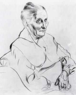 George Grosz. An elderly woman
