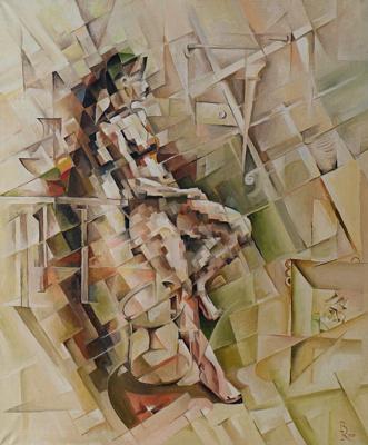 Vasily Krotkov. Girl. Kubofuturizm