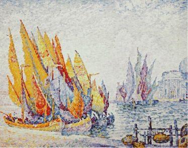 Paul Signac. Sailing boats, Venice