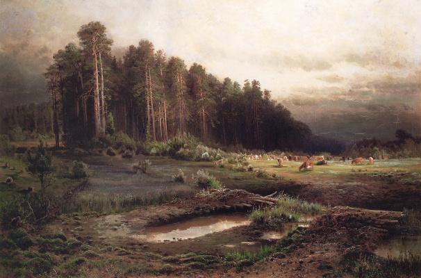 Alexey The Kondratyevich Savrasov. Elk island in Sokolniki
