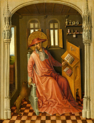 Stefan Lochner. Saint Jerome in the cell. About 1440