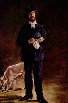 Edouard Manet. Portrait Of Gilbert-Marcel Of Debuten