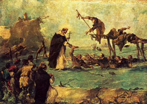 Франческо Гварди. Чудесное спасение святым-доминиканцем