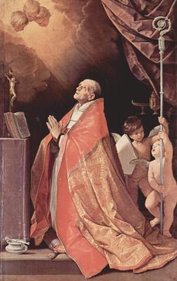 Guido Reni. Prayer of St. Andrew Corsini